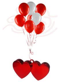 Poids pour Ballons en forme de Coeur