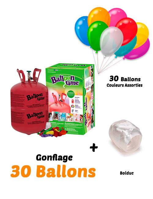Bombonne d'Hélium Jetable Gonflage 30 Ballons
