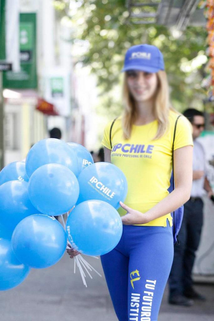 Ballon Publicitaire avec Tiges