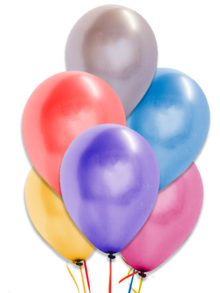 Ballons Metalliques couleurs assorties