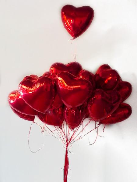 Mylar Ballon Coeur 42 cm