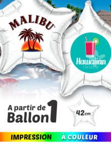 Ballon Mylar en forme d´Étoilé 42 cm Personnalisè a Couleur
