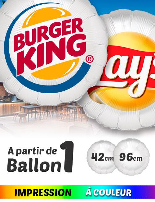 Ballon Mylar Rond de 42 / 96 cm Personnalisès en Couleur