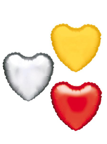 colores corazones de helio poliamida