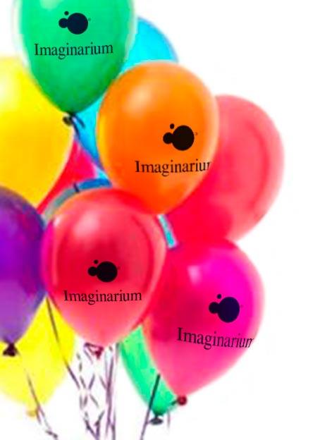 globos inflados con helio personalizados