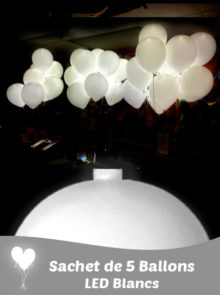 5 LED pour Ballons Blancs