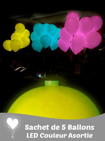 5 LED pour Ballons de Couleurs