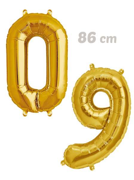 Pack Numeros Globos Dorados 86 cm