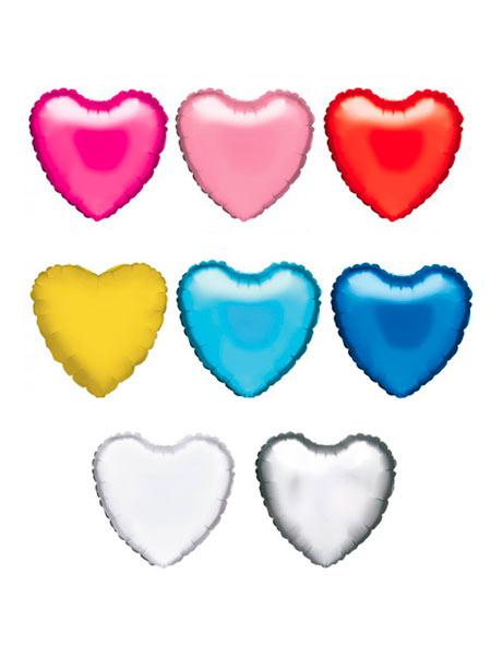 colores globos de helio corazon