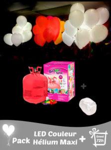 40 Ballons Led Couleurs + Hélium Grande · Pack Maxi