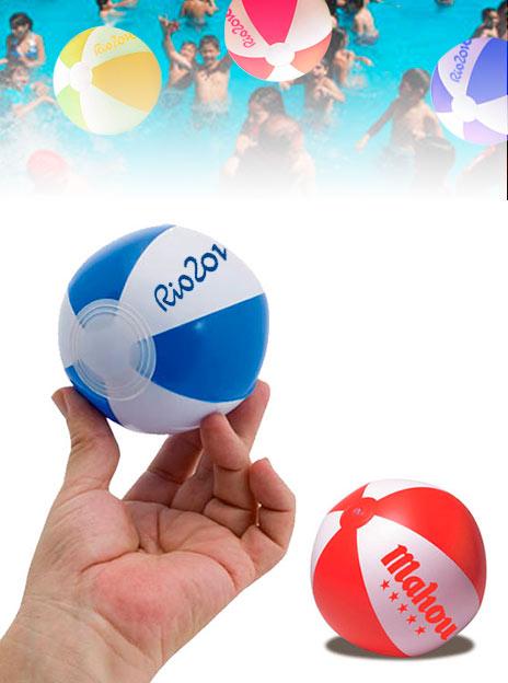 Minis Ballons de Plage Personnalisés Quartier de 9 cm