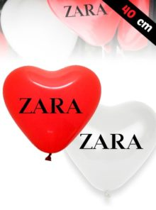 Ballons de Latex en forme de Coeur de 40 cm
