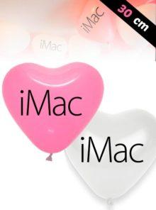 Ballons de Latex en forme de Coeur de 30 cm
