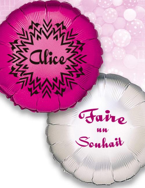 Pack Promo de 12 Balloons Mylar Rond de 42 cm Personnalisé a 1 Couleur