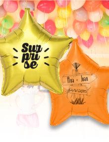 Pack Promo de 12 Balloons Mylar Étoilé de 42 cm Personnalisé a 1 Couleur