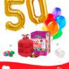2 Ballons Mylar de Couleur Or en forme de Numéro + Hélium Maxi