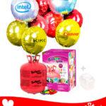 22 Ballons Mylar Rond Personnalisé + Hélium Maxi