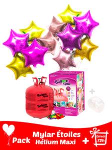 22 Ballons Mylar Étoile+ Hélium Grande