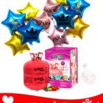 22 Ballons Mylar Étoile Personnalisé + Hélium Maxi