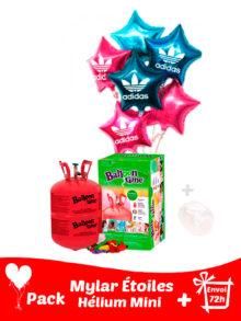 12 Ballons Mylar Étoile Personnalisé + Hélium Petit