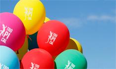 helio desechable 30 globos