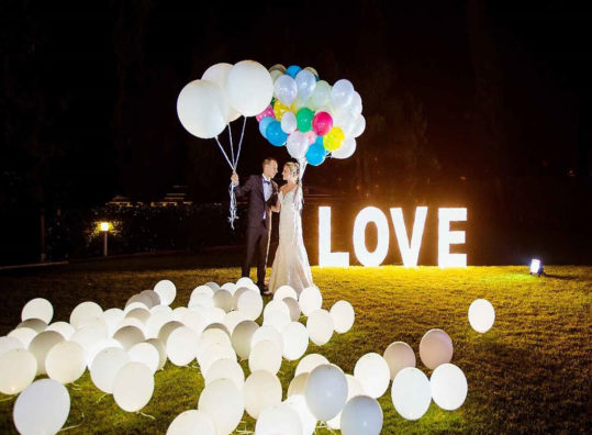 ballon led marriage